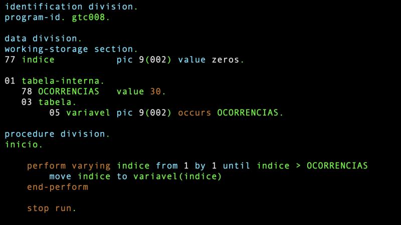 Existe um nível 78 na DATA DIVISION?