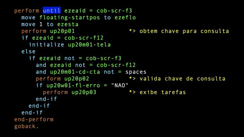 Construindo loops WHILE e UNTIL em COBOL