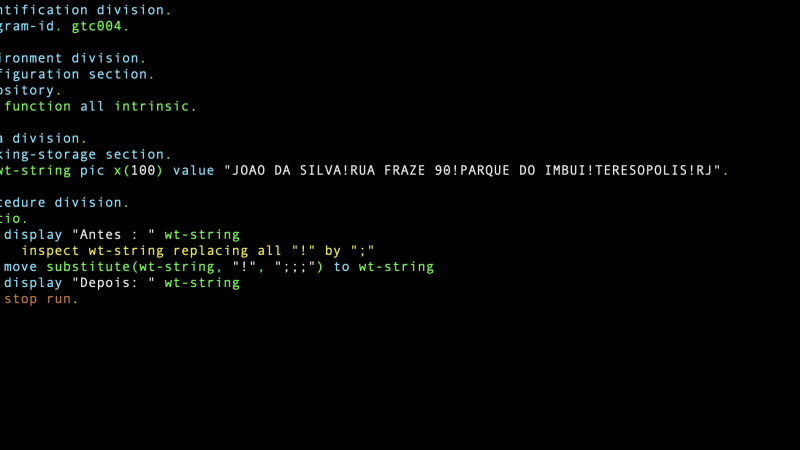 Como substituir uma substring dentro de uma string?